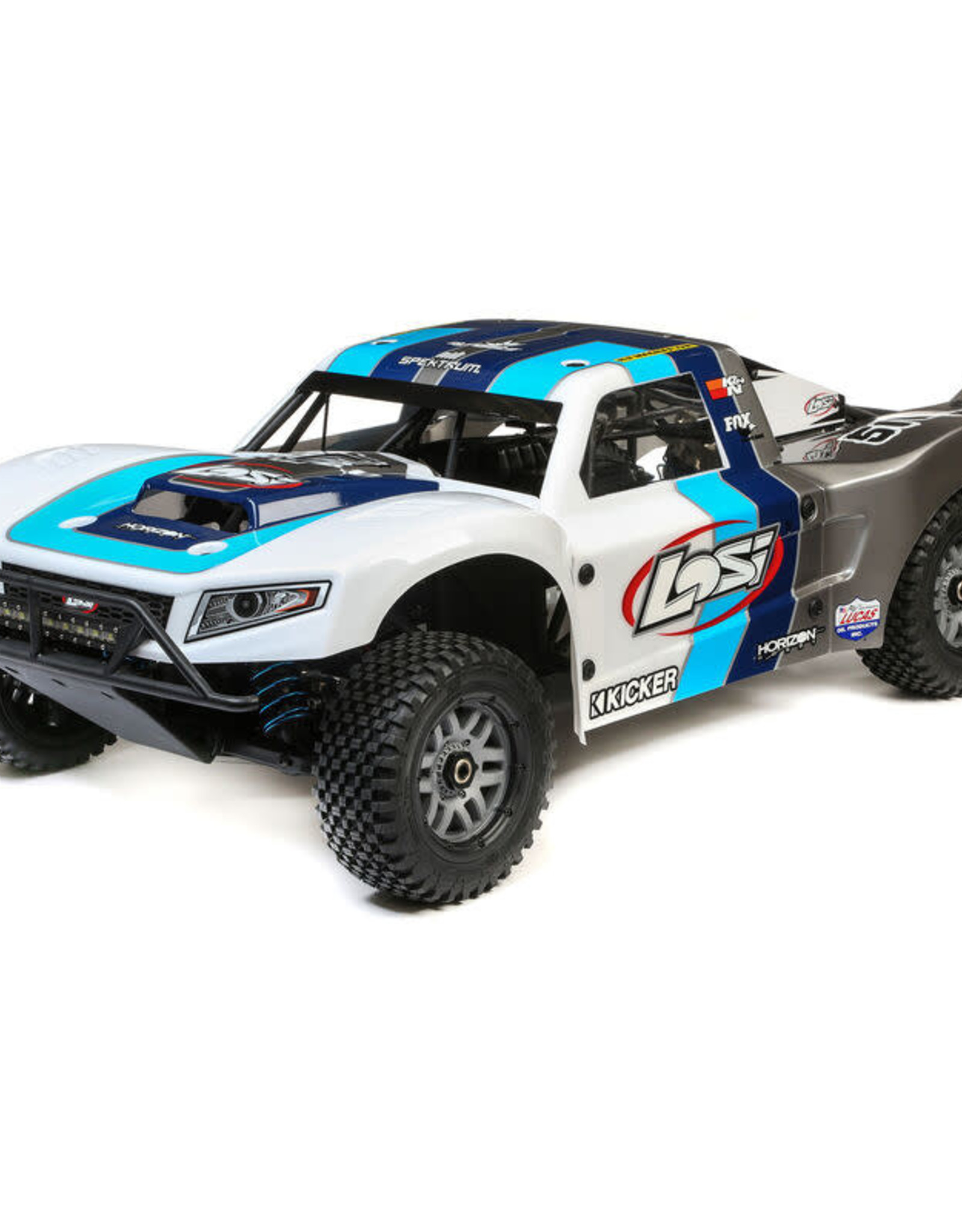 Losi LOS05014T1 1/5 5IVE-T 2.0 4WD Short Course Truck Gas BND, Grey/Blue/White