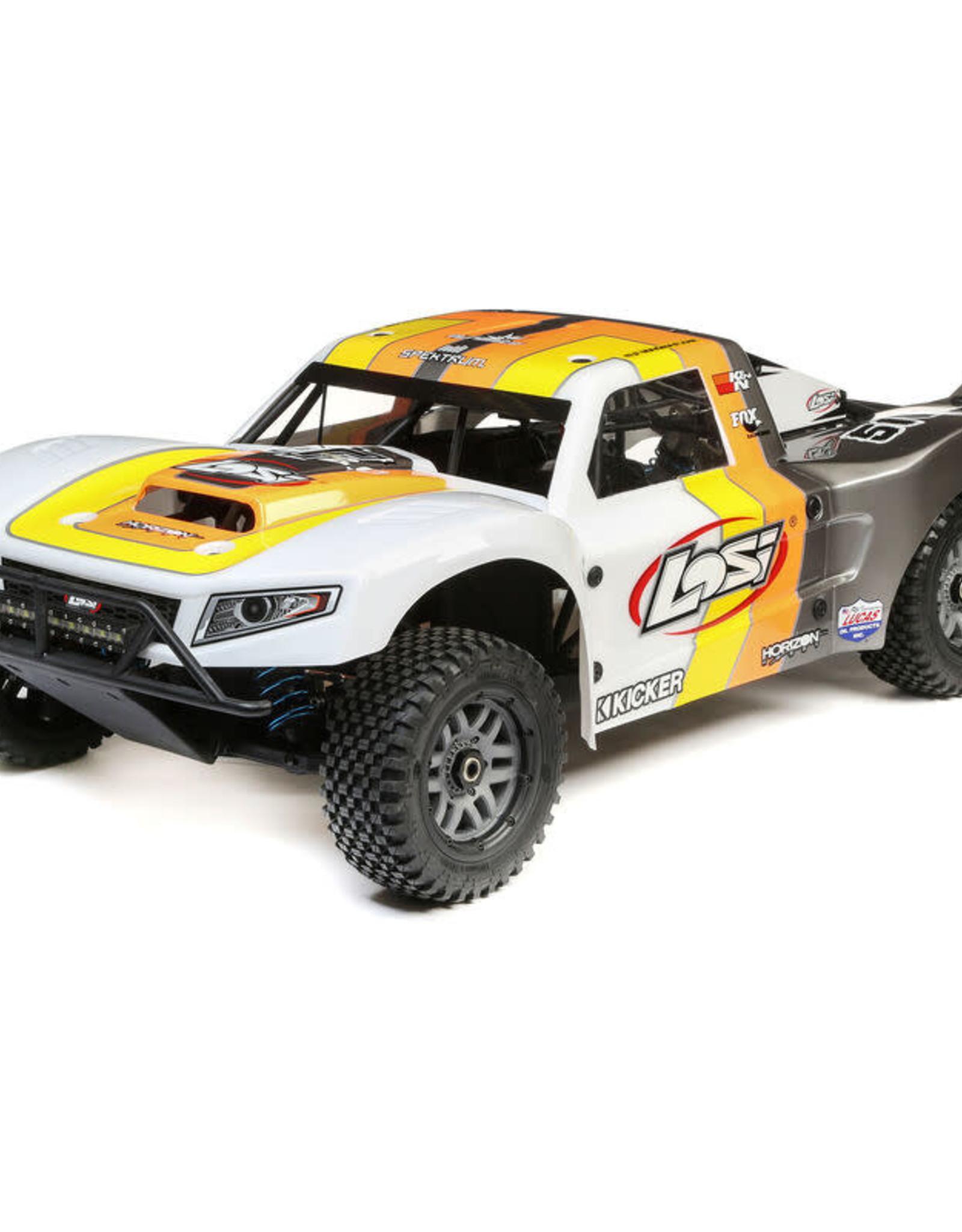 Losi LOS05014T2 1/5 5IVE-T 2.0 4WD Short Course Truck Gas BND, Grey/Orange/White