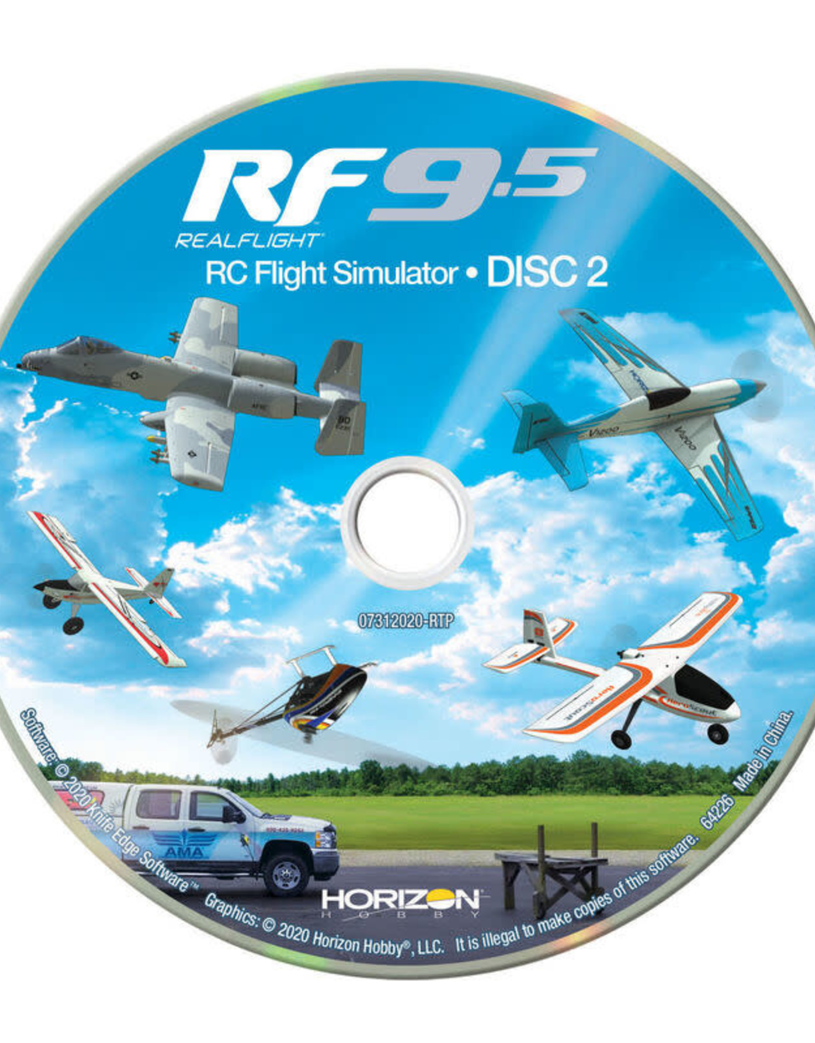 RFL1200 RealFlight 9.5 Sim w/Spektrum Controller