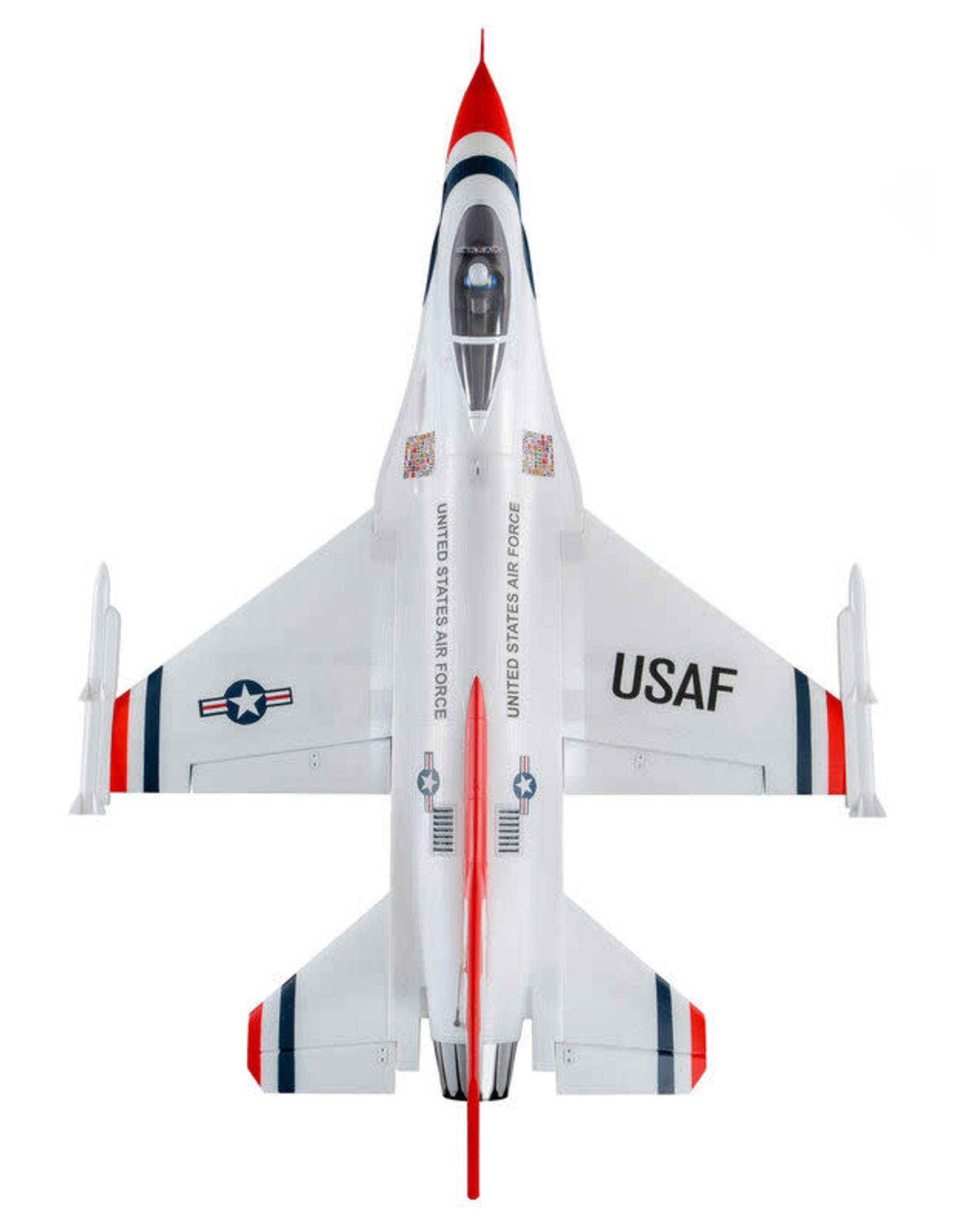 EFL EFL7850 F-16 Thunderbirds 70mm EDF BNF Basic with AS3X and SAFE Select, 815mm