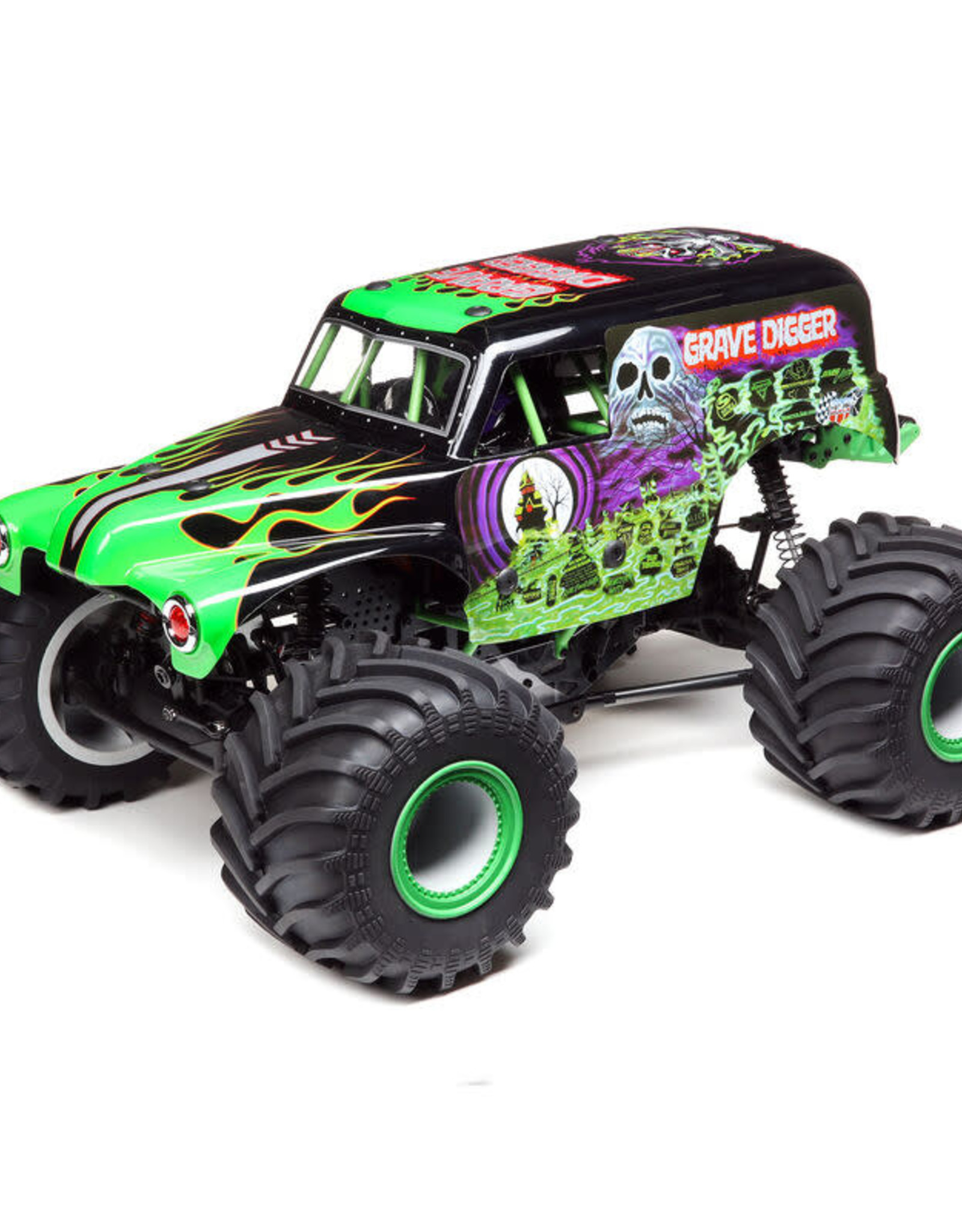 Losi LOS04021T1LMT:4wd Solid Axle Monster Truck, Grave Digger:RTR