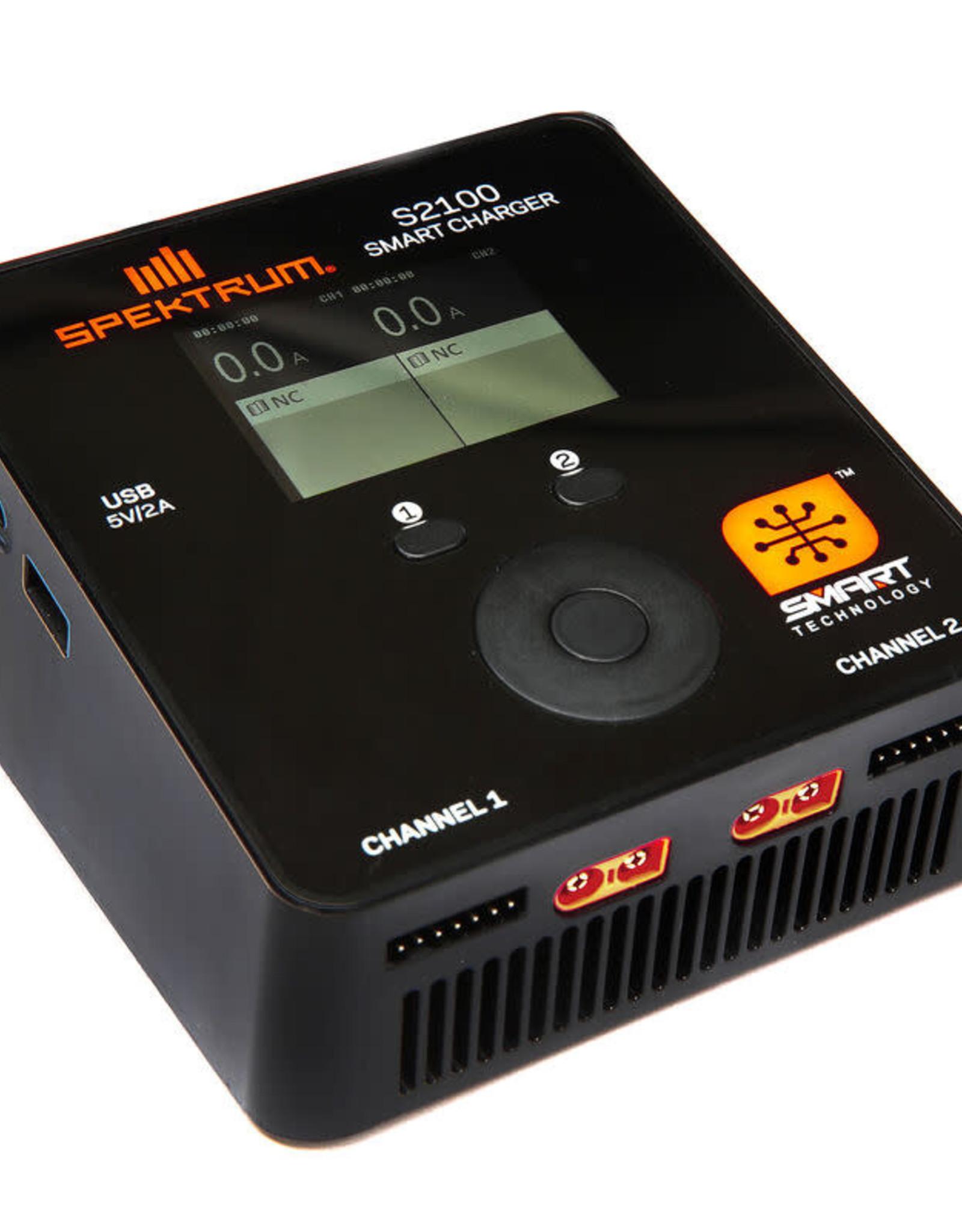 spektrum SPMXC1010 Spektrum Smart S2100 AC Charger, 2x100W