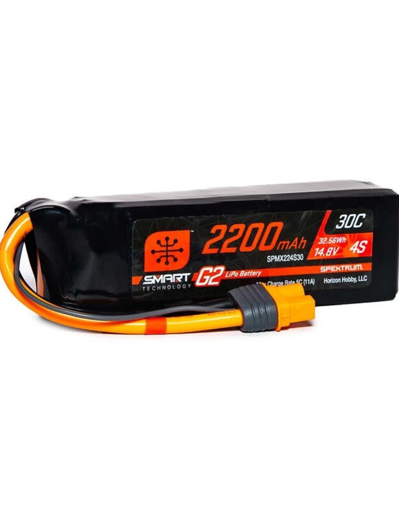 spektrum SPMX224S302200mAh 4S 14.8V Smart G2 LiPo 30C; IC3