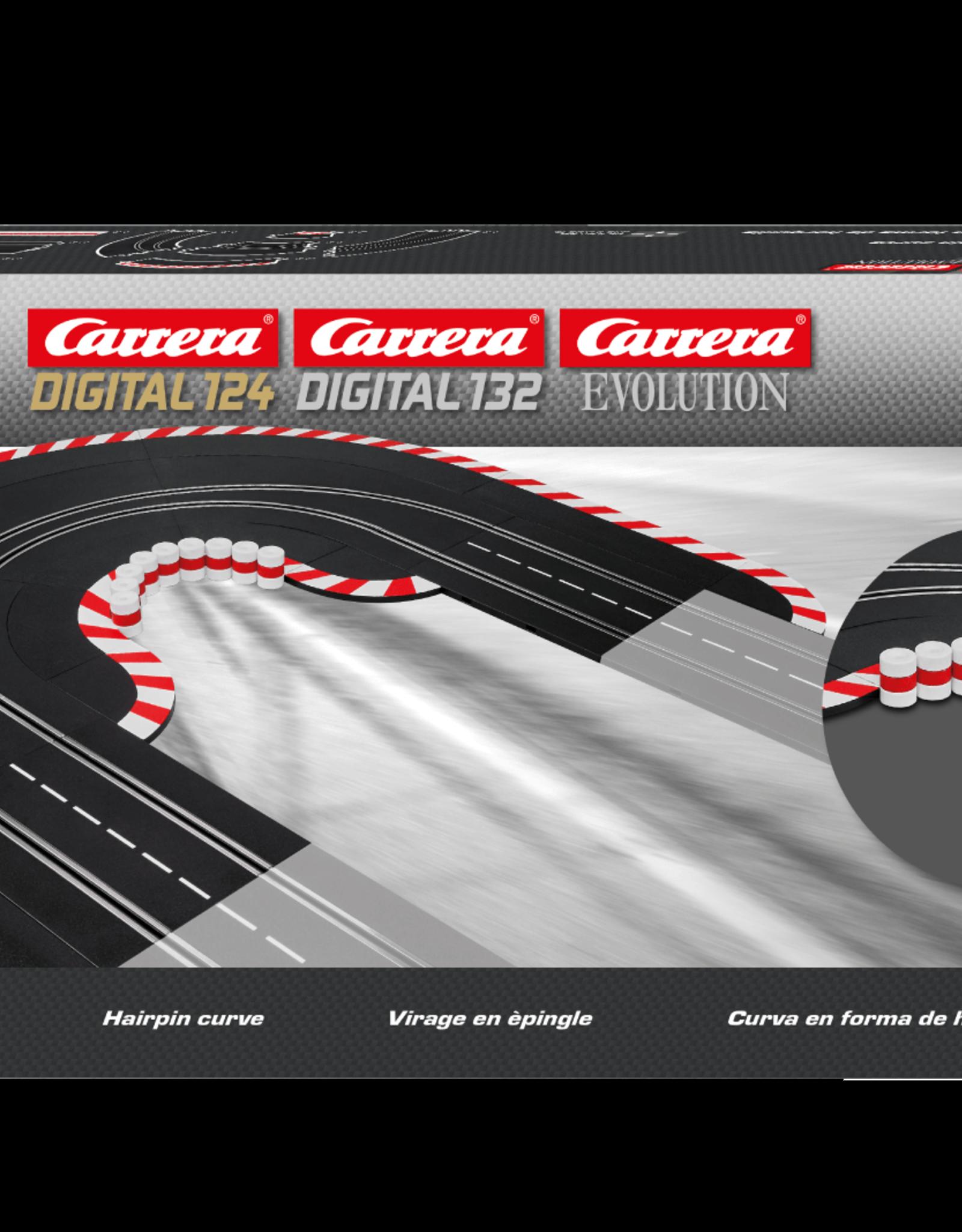 carrera CAR20613 Hairpin Curve 1/60, Digital 124/132 & Analog