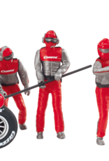 carrera CAR21131 Set of figures, mechanics, Carrera Crew (Red)