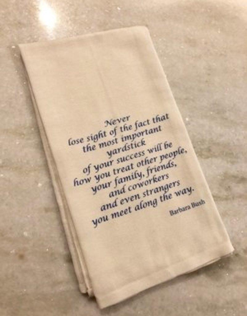 Painted Tea Towel Barbara Bush