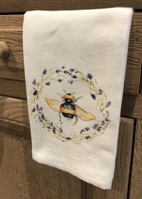 Bee in Wreath Tea Towel
