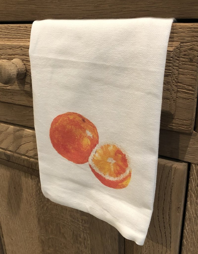 Oranges Tea Towel