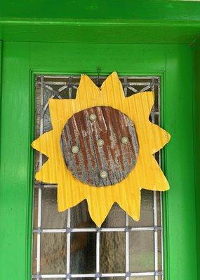 Sunflower Metal Door Hanger