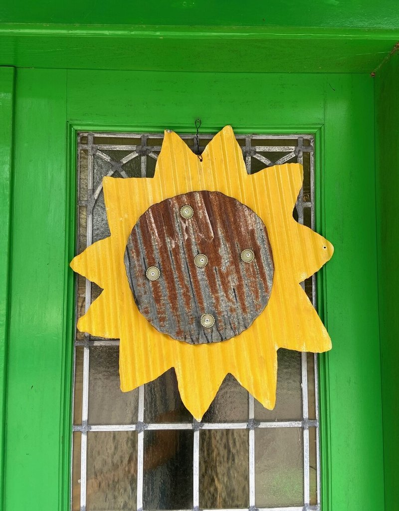 Sunflower Metal Door Hanger