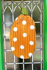 Polka Dot Pumpkin Metal Door Hanger