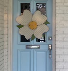 Dogwood Flower Metal Door Hanger