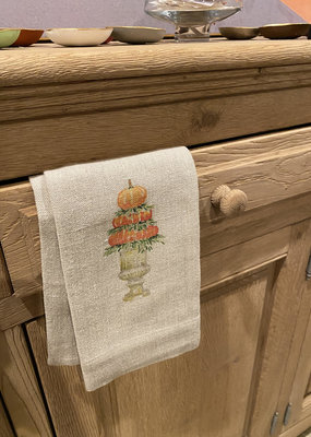 Pumpkin Topiary Tea Towel | Flax Linen