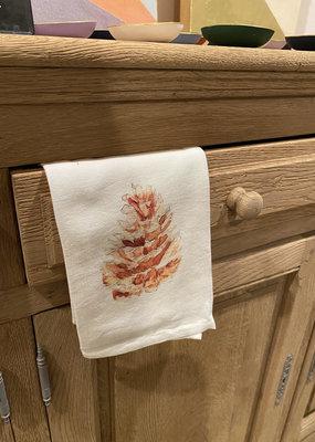 Pinecone Tea Towel |  Cotton