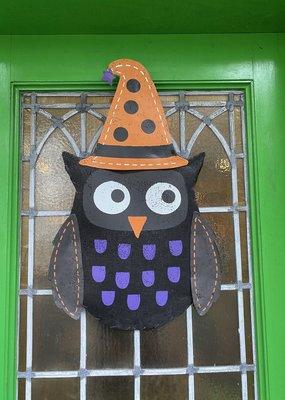 Owl Canvas Door Hanger