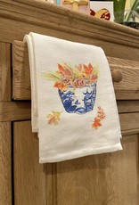 Bowl with Fall Leaves Tea Towel