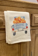 Truck with Pumpkins Tea Towel