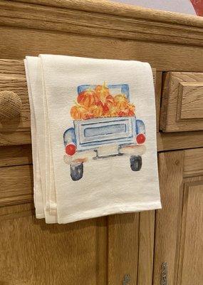 Pumpkin Truck Tea Towel | Cotton