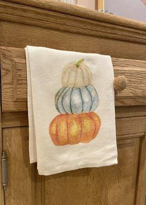 Stack of Pumpkins Tea Towel | Cotton