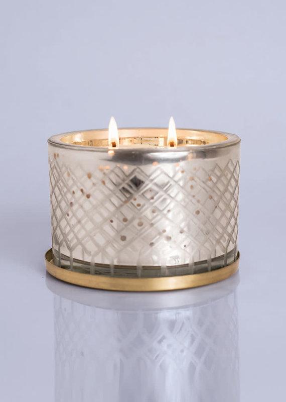 Volcano Candle   Mercury Glass