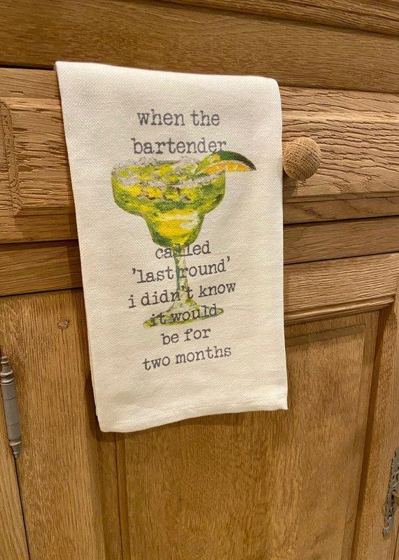 Bartender Quarantine Tea Towel | Cotton