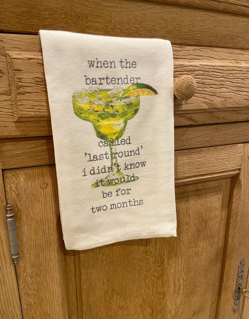 Bartender Last Round Tea Towel