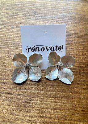 Matte Garden Party Earring | Silver