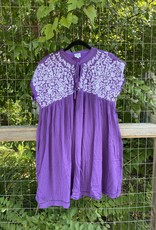 Embroidered Dress Purple
