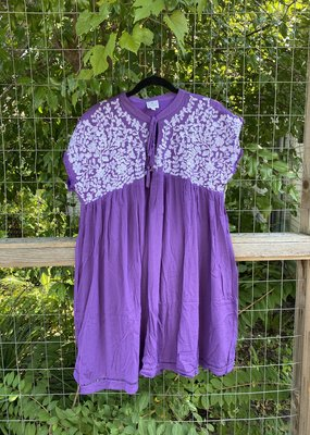 Embroidered Dress | Purple