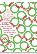 Advent Calendar with Easel