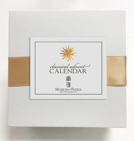 Classical Advent Calendar with Easel