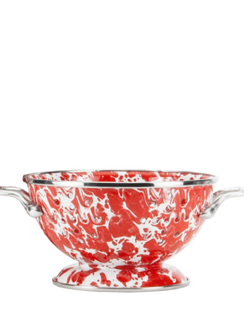 Red Swirl Petite Colander