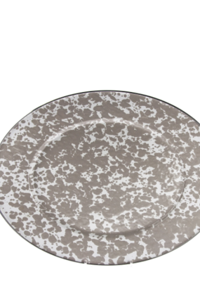 Taupe Swirl Oval Platter