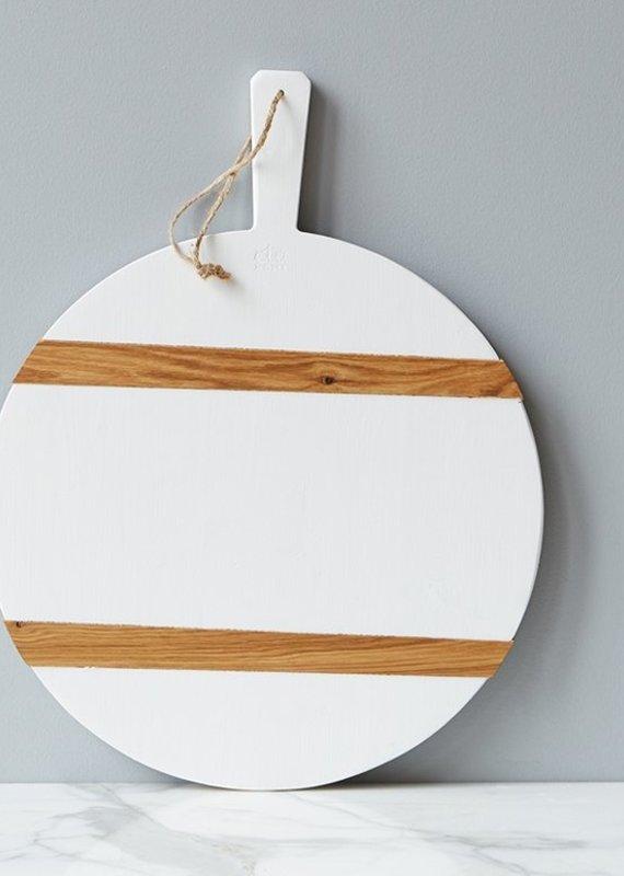 Round Charcuterie Board | White