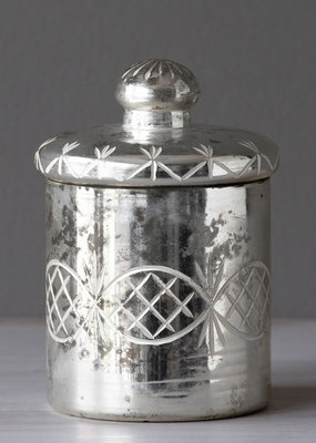 Mercury Etched Cylinder with Lid