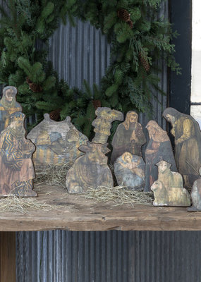 Wooden Tabletop Nativity Set of 12