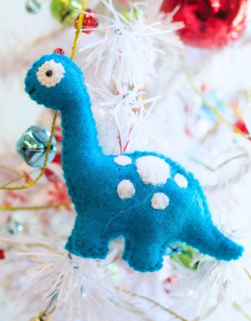 Wool Blue Dinosaur Ornament