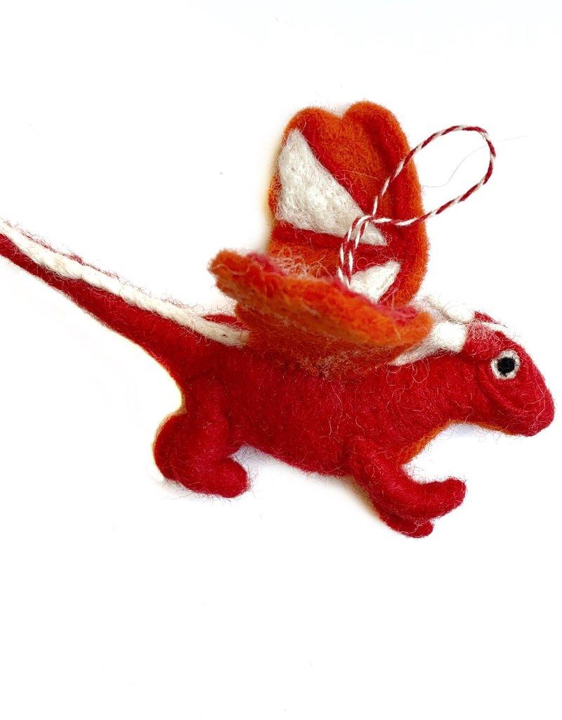 Wool Dragon Ornament
