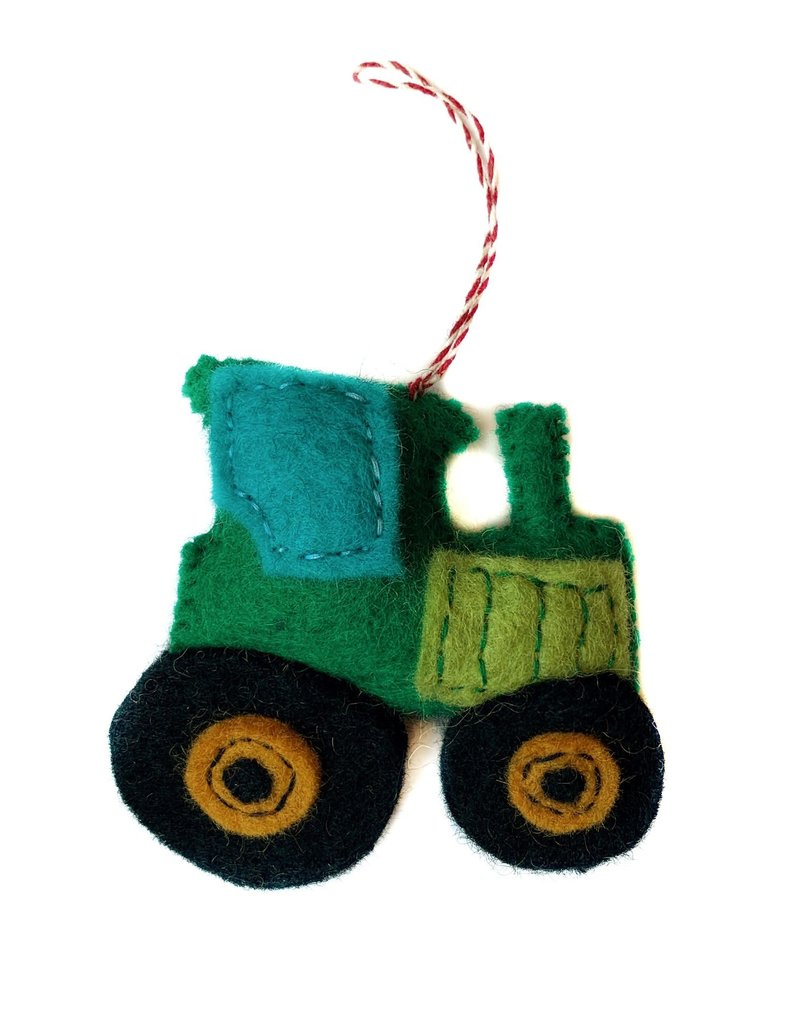 Wool Tractor Ornament