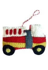 Wool Firetruck Ornament