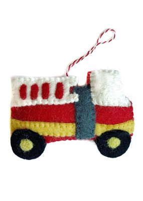 Wool Firetruck Ornament