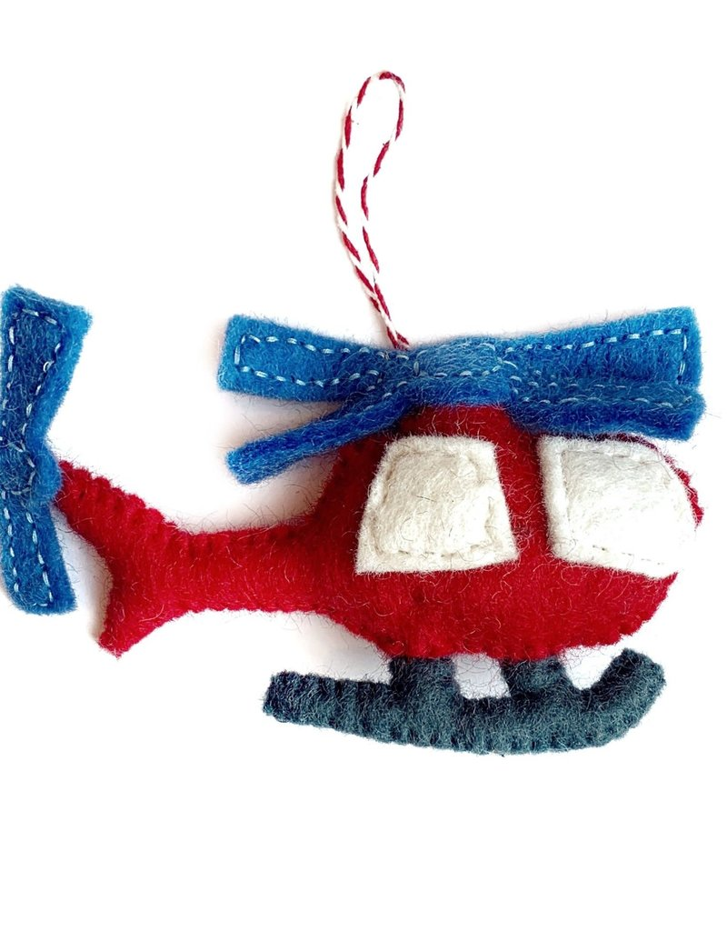 Wool Helicopter Ornament