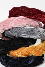 Leto Accessories Braided Velvet Headband