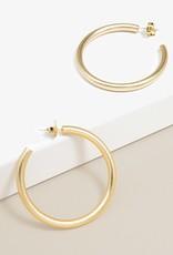Matte Gold Large Hoop Earrings