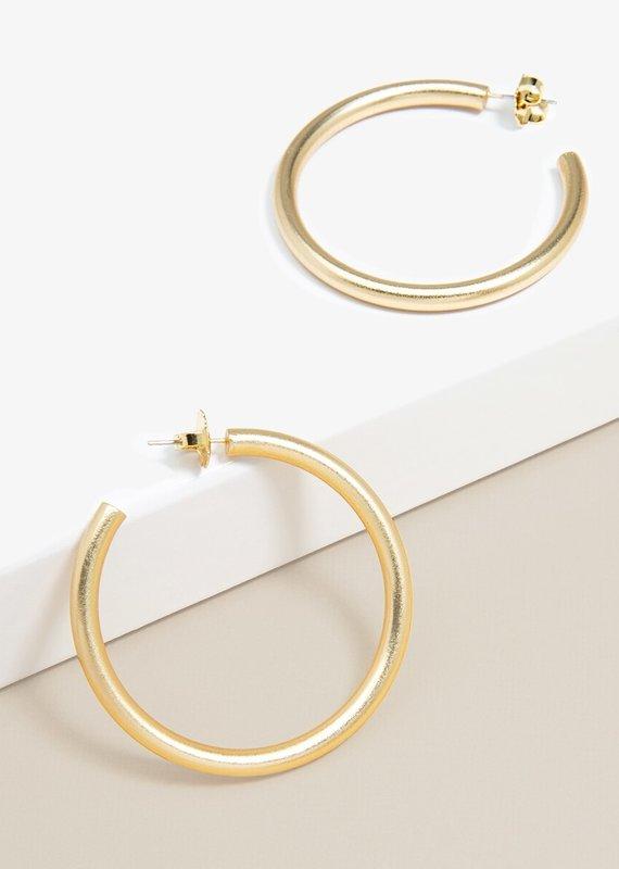 Matte Hoop Earrings   Gold