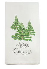 Trees with Merry Christmas Tea Towel