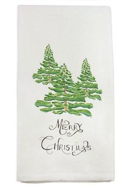 Merry Christmas Forest Tea Towel | Cotton
