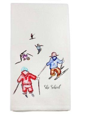 Ski School Tea Towel | Cotton