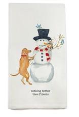 Snowman and Friends Tea Towel
