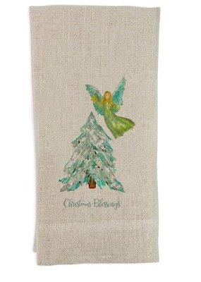 Christmas Blessings Tea Towel | Linen
